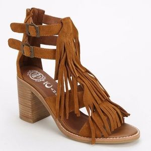 Jeffrey Campbell | Dodge Fringe Sandals Suede